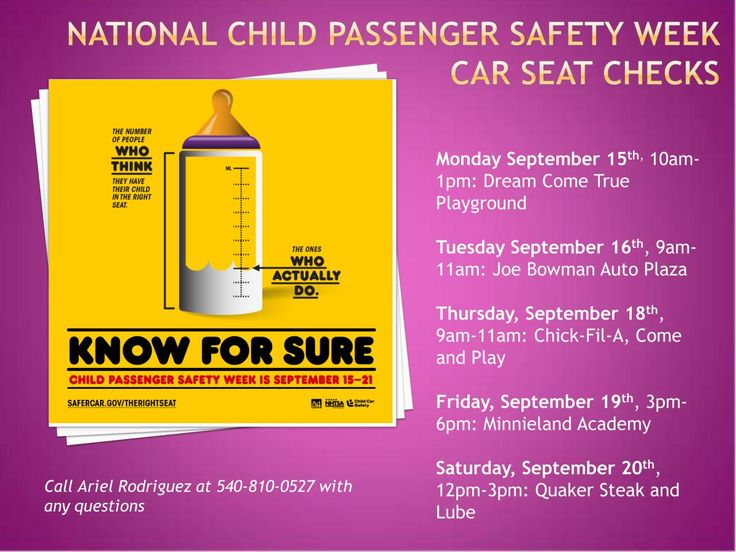 National Child Passenger Safety Week Events in