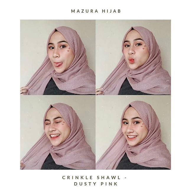 Referensi Pemakaian Arabian Crinkle Shawl Premium Original