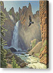 Tower Falls  Canvas Print by Paul Krapf