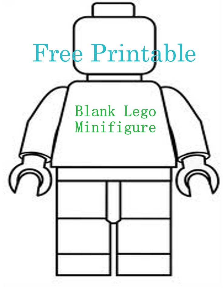 Brenda , the boys could color this , or use it to make cookie cutters ? Free Printable ~ Blank Lego Minifigure