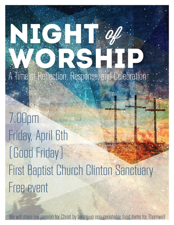 Night of Worship Flyer by Jordan Green, via Behance