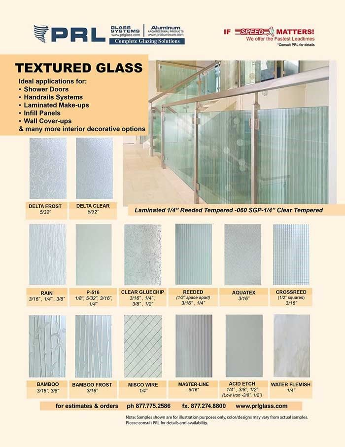 Our Textured Glass Range From 1 8 To 1 2 Thick For A