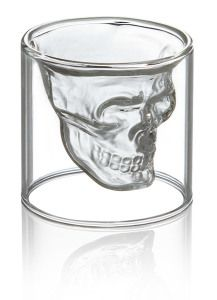 Crystal skull shot glass  http://www.wicked-gadgets.com/crystal-skull-shot-glass/