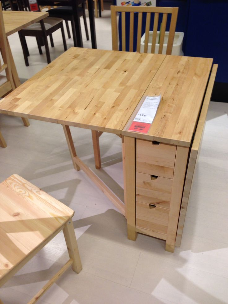 Folding table at IKEA