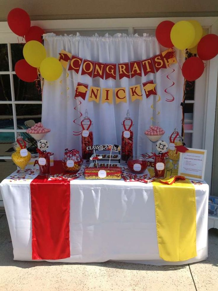 Nick's High School Graduation Candy Buffet  | CatchMyParty.com