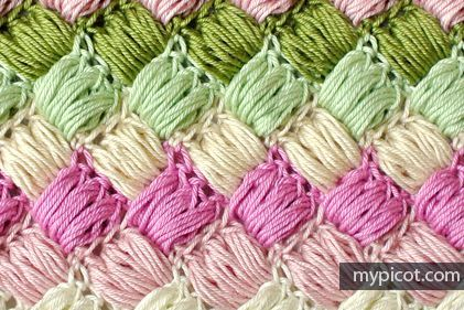 Crochet Box Puff Stitch: FREE crochet pattern