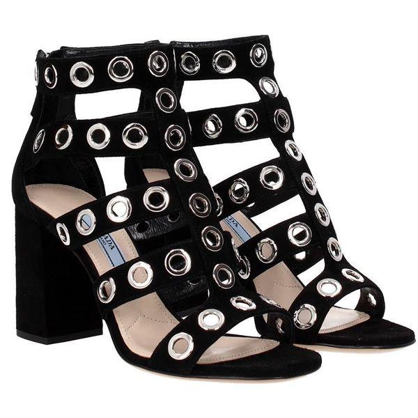 09281ba73945 プラダ シューズ コピー レディースシューズ/女性 靴 PRADA サンダル スエードレザー ○素材:スエード