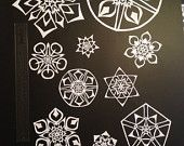 Snowflakes as window decorations