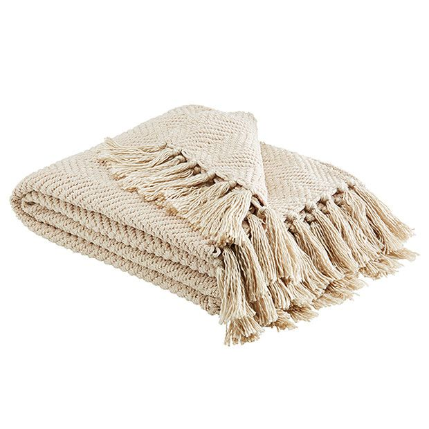 Herringbone Throw - Oatmeal | Target Australia