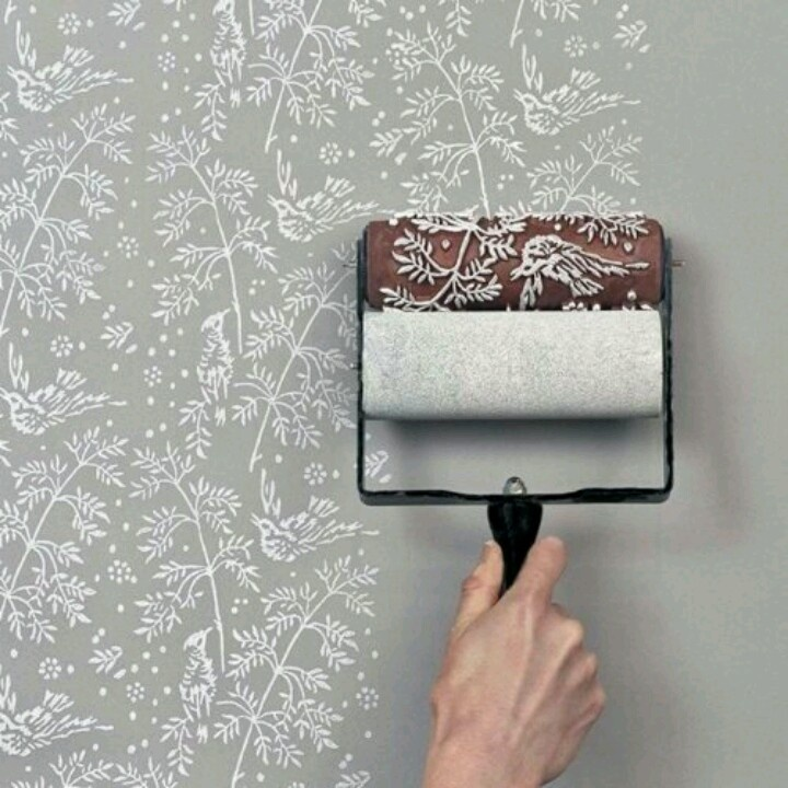awesomely easy way to get wall paper design that you can paint over - Paint Design Ideas For Walls