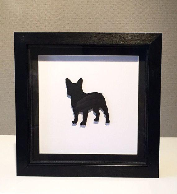 Franse Bulldog silhouet foto van Rubyandfleur op Etsy