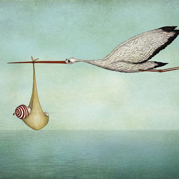 Majalin - stork with baby