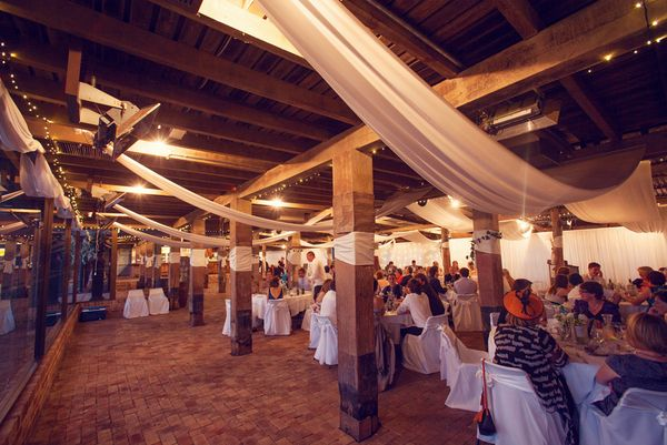 Belgenny Farm NSW Wedding by Pictures   I love the angle of this draped fabric.  Will be hard to do in our barn, but maybe....