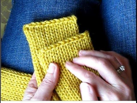 ▶ Tutorial: Getting Clean, Straight Edges on a Knitted Tube Scarf (Addi Express) - YouTube