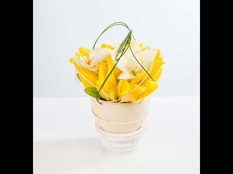 Ostrich egg   Flower Factor How to   Easter Arrangements - YouTube