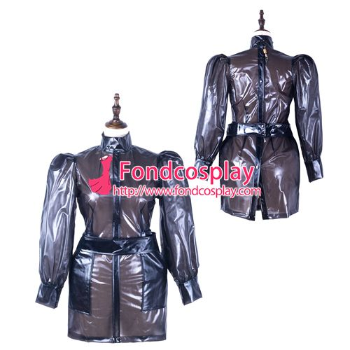 Sissy maid Clear PVC dress lockable Uniform cosplay costume Tailor-made[G2302]