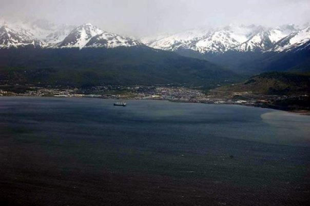 Chile as seen from the Beagle Cannal Ushuaia, Argentina
