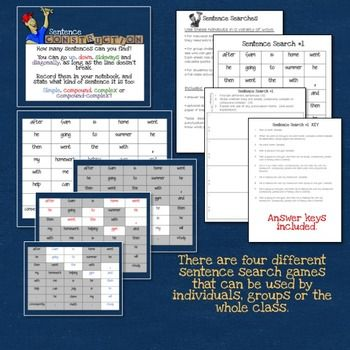 Sentence-Construction-Games-1771517 Teaching Resources - TeachersPayTeachers.com