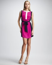 magentaBurch Angie, Angie Dresses, Clothing, Colorblock Dresses, Angie Silk, Burch Silk, Women Tory, Silk Colorblock, Tory Burch3
