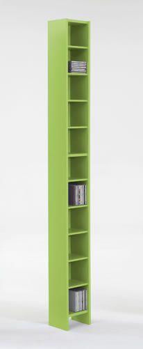 Green Cd / Dvd Storage Tower Rack 11 Shelves