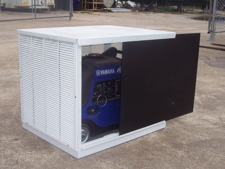 genewrator enclosure - Bing Images | Decor ideas | Generator box, Portable generator, Diy generator