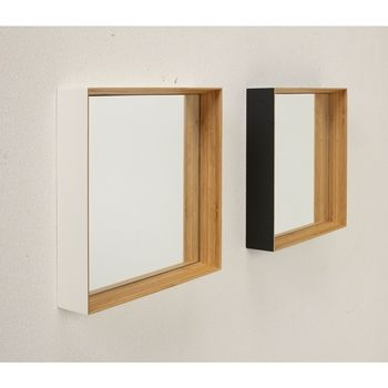 ZERO KAKU(ゼロ カク)壁掛けミラー、黒色 / テオリ(TEORI) | ricasa(リカーサ)