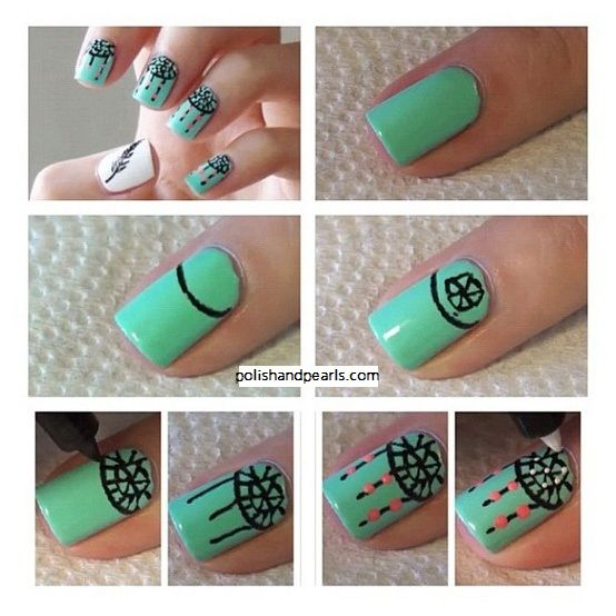 step by step: dreamcatcher nails | NAIL LOVE | Pinterest ...