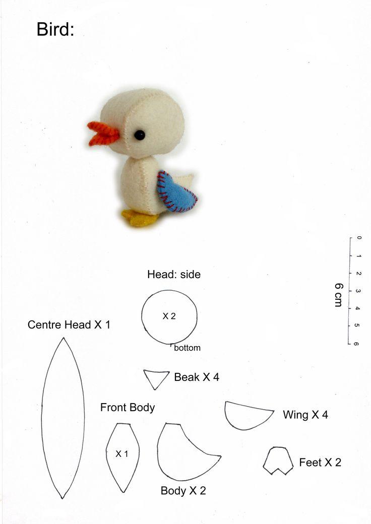 Bird pattern. Tutorial here ~ http://blythe.burnet.edu.au/toypatterns/birdtut.jpg