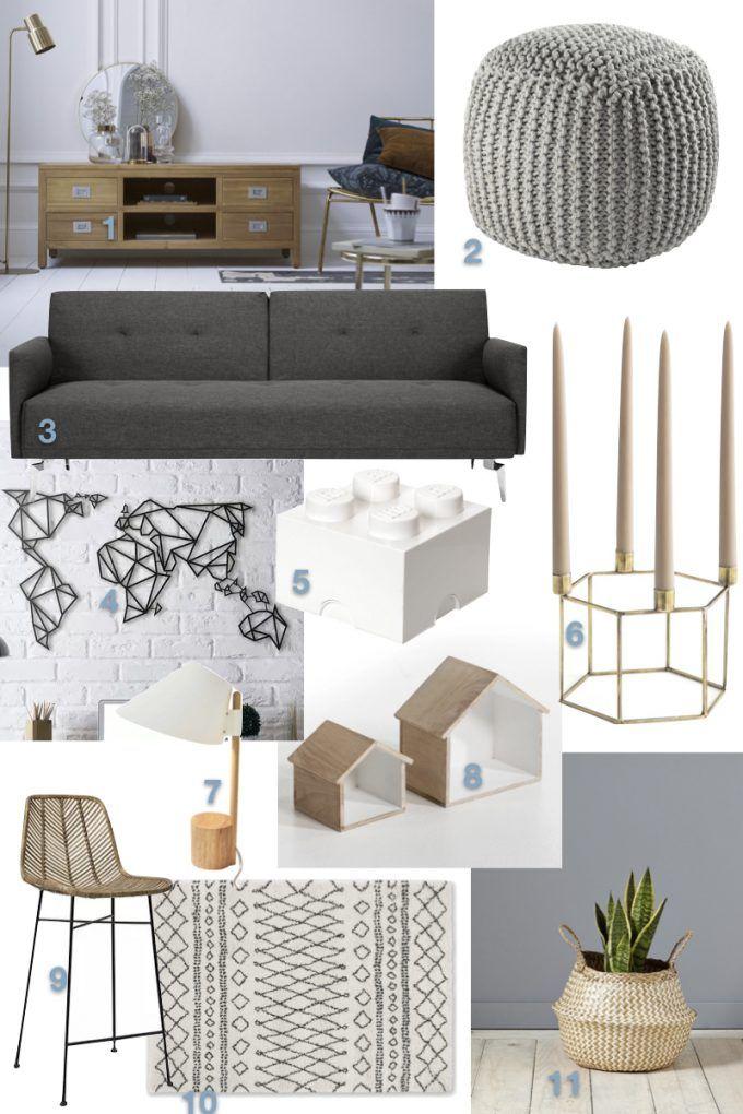 Deco Scandinave Pas Cher 3 Salons A Moins De 1000 Clematc Decoration Et Renovation Maison Ikea Salon Style Scandinave