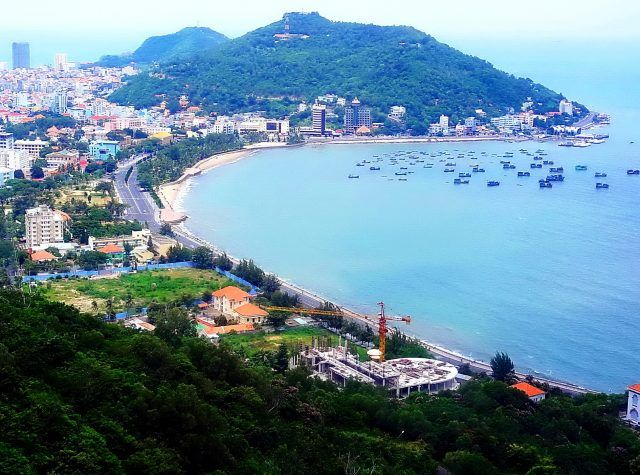 Vung Tau city, Vietnam  Belonging to the Southeast area, Vung Tau city is a big center of economics, politics, and cultures. Situated on Vung Tau peninsula, Vung Tau city is about 125 kilometers from Ho Chi Minh City to the southeast with the surround of the 42- kilometer coast.