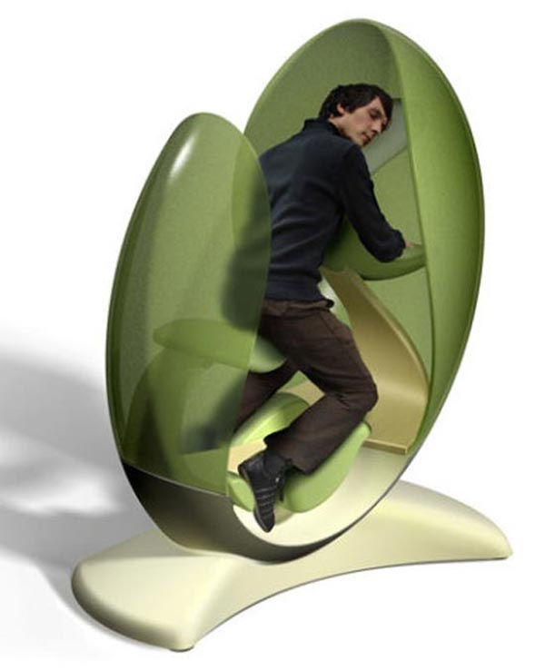 Egg shaped chair for a nap inspiruj ce jaja pinterest for Office nap pod