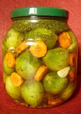 Zöldparadicsom savanyúság ecet és cukor nélkül- Green tomato pickles without vinegar and sugar