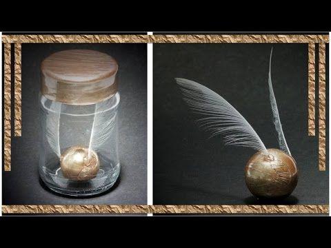 DIY: POMO DE OURO (GOLDEN SNITCH) - HARRY POTTER | IDEIAS DIY! - YouTube