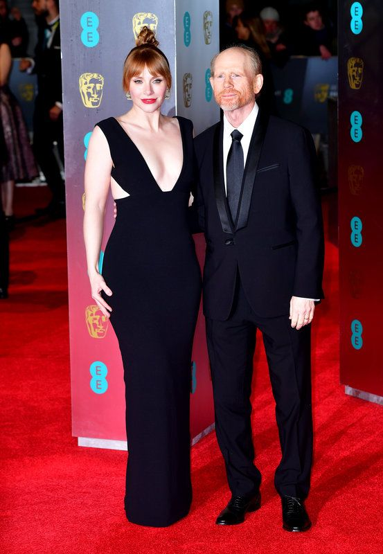 (Dominic Lipinski/PA Wire) Baftas 2017 Red Carpet: London England Feb 12- Bryce Dallas Howard and Ron Howard