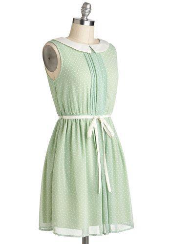 Pinch of Pistachio Dress, #ModCloth: Pistachios, Clothes, Shops, Collier Dress, Modcloth, Retro Vintage Dresses, Mod Retro