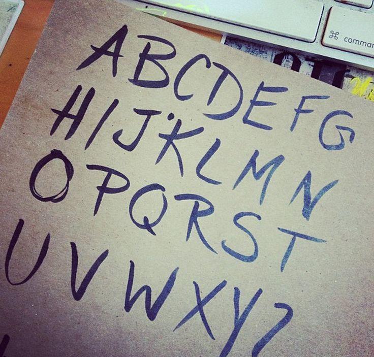 Hand Drawn Typography on Behance