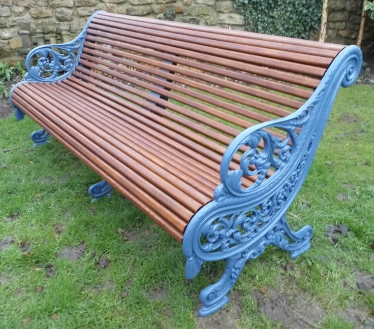 finest falkirk ironworks royal parks bench fully restored by thompsons garden emporium with. Black Bedroom Furniture Sets. Home Design Ideas