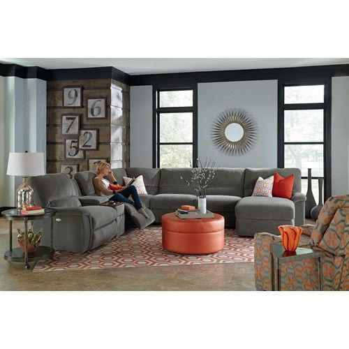 La Z Boy ASPEN Seven Piece Power Reclining Sectional Sofa With Cupholders