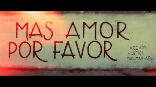 Mas amor por favor.