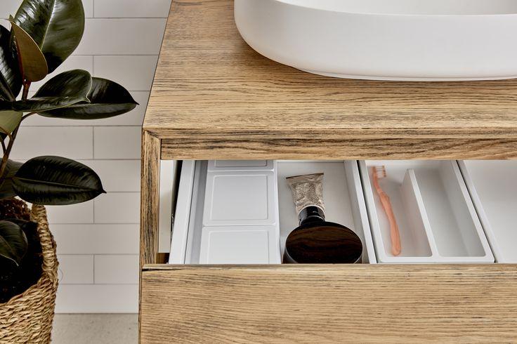 Baxter Vanity. Timber. Loughlin Furniture Vanities. Vanity storage.