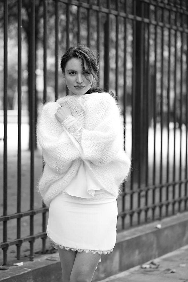 Gilet en maille ajourée - Pull: Sophie Sarfati 2015 - Photo: Charlotte Legendre Brunet - La Fiancée du Panda blog Mariage et Lifestyle
