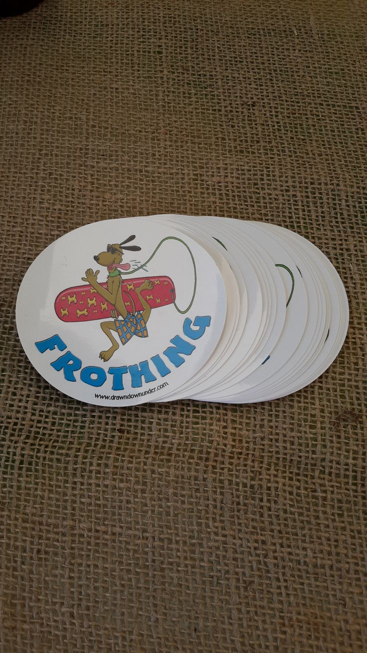 Frothing Surf Dog Sticker.