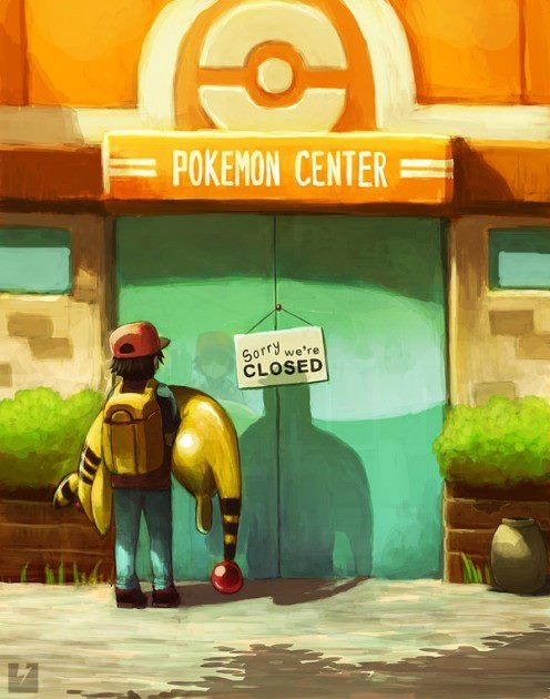 Poor Ampharos... Beautiful picture, though!