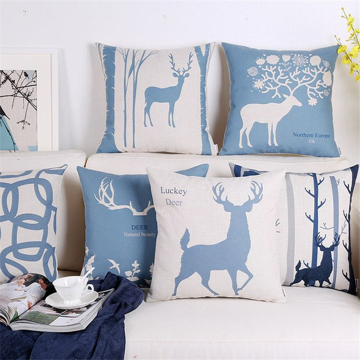 Find More Cushion Cover Information about Nordic Scandinavian Cushion Deer Geometric Pillows Case Decoration Geometric Throw Pillow Cushions Home Decor Sofa Pillowcase,High Quality Cushion Cover from WK HomeTextiles Store on Aliexpress.com