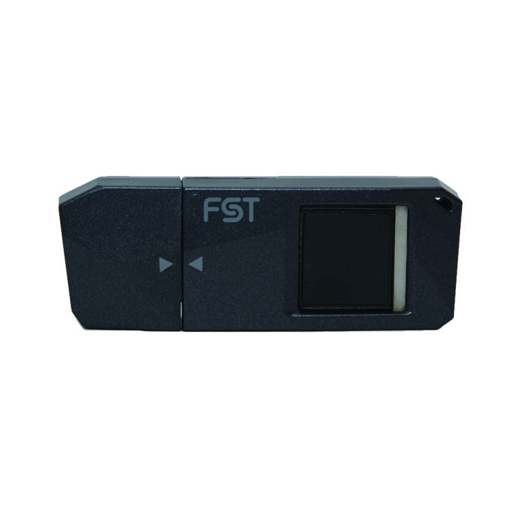 FST Fingerprint Recognition USB Flash Drive Biometric Fingerprint Reader Memory Stick Security Flash Disk (32GB, Dark gray)  Touch USB Memory has the same shape as the typical USBs but fingerprint reader is included Simple to use because there is no need to install additional software Smart card will protect your computer from hacking Have guaranteed high-quality algorithm Capacity: 32GB, Material: Polycarbonate, Color: Dark gray