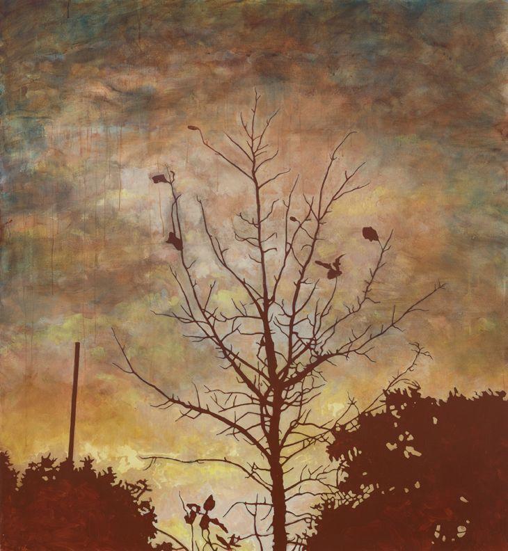"Sunday Morning 2015 acrylic on canvas 65"" x 60"""
