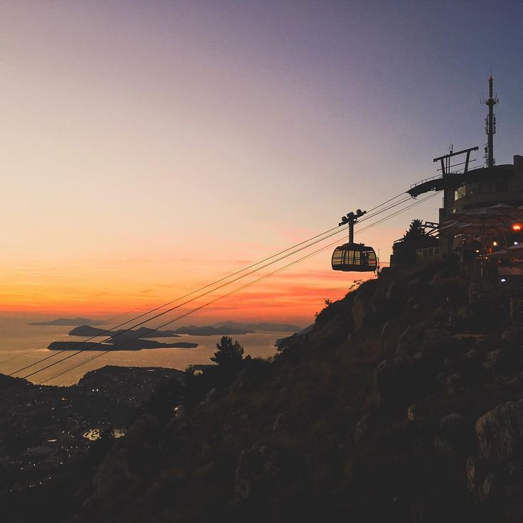 Magical sunset views from the top of Mount Srd. 🌅 Following this, I stumbled my way back down the serpentine trail in the dark. (You could also take the cable car, but I'd rather save that money for food. 😛)