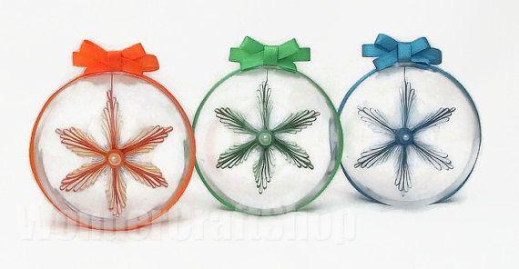 set of 3 snowflakes 3d snowflake hanging by WonderCraftShop