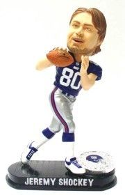 New York Giants Jeremy Shockey Forever Collectibles Black Base Bobblehead Z157-8132936188