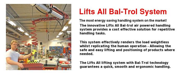 A repetitive handling system for all industries - For lifting bags, boxes, sacks, drums, components, glass, kegs, barrels, wood, boards and much more...